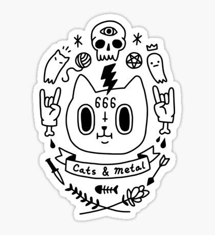Cats & Metal Glossy Sticker