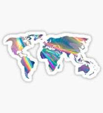 holographic continents Sticker