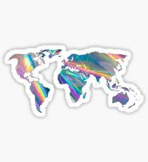 holographische Kontinente Sticker