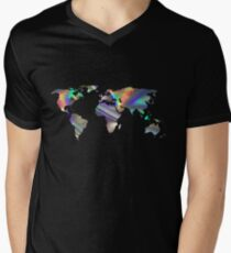 holographic continents Men's V-Neck T-Shirt