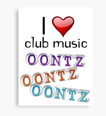 I heart club music Canvas Print