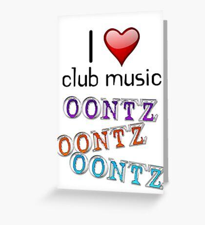 I heart club music Greeting Card