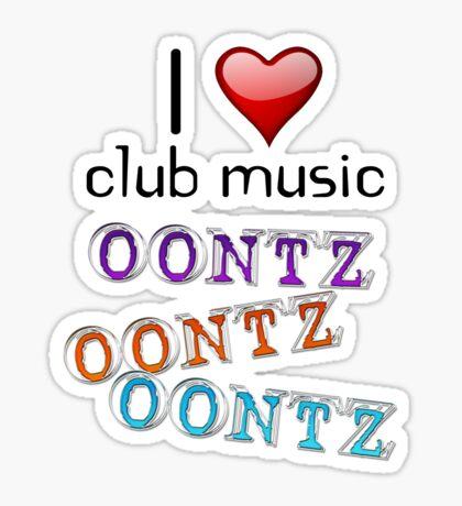 I heart club music Sticker