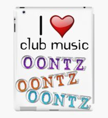 I heart club music iPad Case/Skin