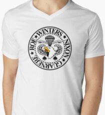 Band of Brothers Crest Men's V-Neck T-Shirt