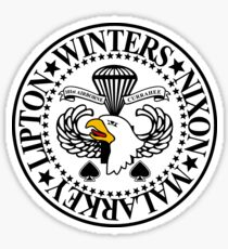 101st airborne stickers redbubble WWII 101st Airborne band of brothers crest sticker