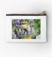 Bumble Bee in the Monk's Hood Studio Pouch