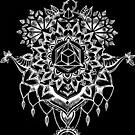 Geometrische Mandala Schwarz von Emilie Desaunay