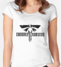 """Der letzte von uns """"ertrage und überlebe"""" Firefly Emblem Tailliertes Rundhals-Shirt"""