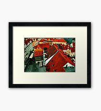 The Roofs of Prague Framed Print