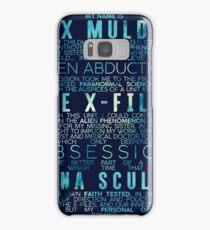 The X-Files Revival - Blue Samsung Galaxy Case/Skin