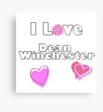 I Love Dean Winchester Metal Print