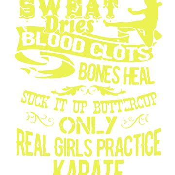 Real Girls Practice Karate by newawesometee