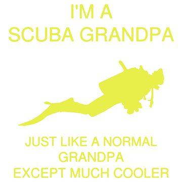 Scuba Diver Grandpa by newawesometee