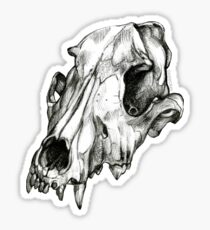 Canine Skull Sticker