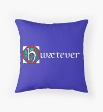 Hwætever! (Alternate Color) Throw Pillow