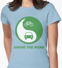 Share the Road Womens Fitted T-Shirt