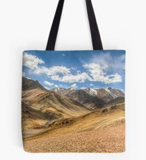 Mountain View from the Pamir Highway, Tajikistan Tote Bag