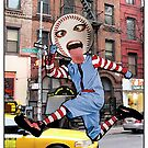 Jumping Baseball Head Man - New York City by JoelCortez