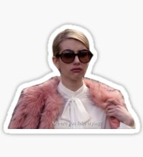 Fake Crying Scream Queens Sticker