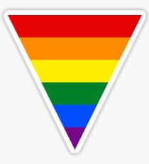 LGBT Equality Rainbow Triangle Sticker