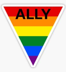 LGBT Ally Rainbow Triangle Sticker