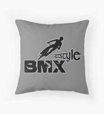 bmx, bmx freestyle Throw Pillow