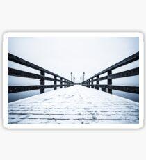 Beach Lubmin - Winter Study I Sticker