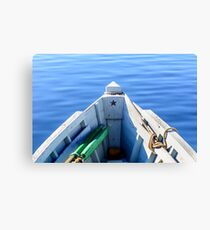Bow of the boat with the star. Canvas Print