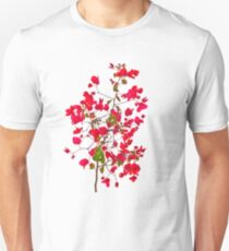 Red petals flowers Unisex T-Shirt