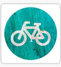 Bicycle lane sign  Sticker