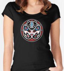 Bear Shamanic Animal Emblem Women's Fitted Scoop T-Shirt