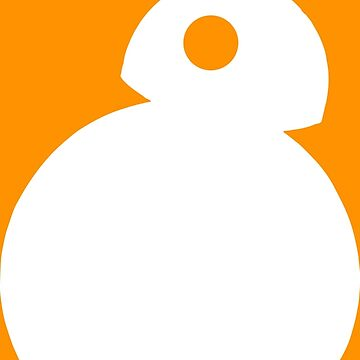 BB-8 - White Silhouette  by ethantaylor