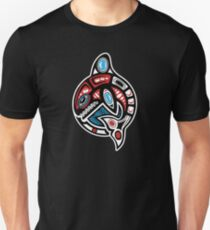 Orca Shamanic Animal Emblem Unisex T-Shirt