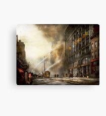 Fireman - Brooklyn NY - Surprise 1909 Canvas Print