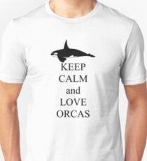 Keep calm and love orcas Unisex T-Shirt