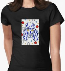 Poodle fun and crazy Womens Fitted T-Shirt