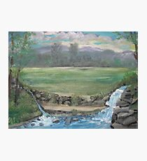 Double water fall Photographic Print