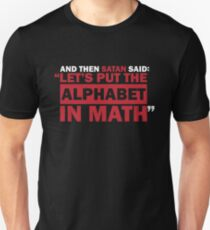 Alphabet in Math Unisex T-Shirt