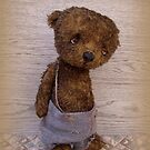 Handmade bears from Teddy Bear Orphans - Bruiser by Penny Bonser