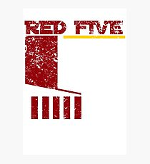 Red Five Photographic Print