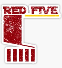 Red Five Sticker