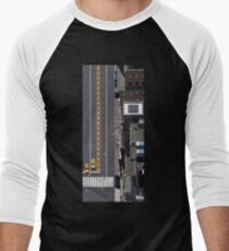 Camiseta ¾ bicolor para hombre New York Street Illustration