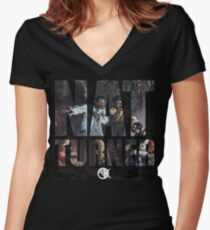 NAT TURNER  Women's Fitted V-Neck T-Shirt