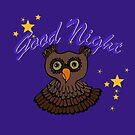 Owl says Good Night by Anne van Alkemade