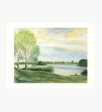 Abendstimmung - Templin See - Uckermark Kunstdruck