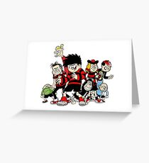 Dennis The Menace And Gang Greeting Card