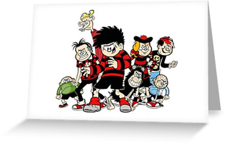 Dennis The Menace And Gang Greeting Cards By Luna Snaps Redbubble