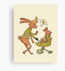 Incorrigibly Fatherly Rabbit Canvas Print