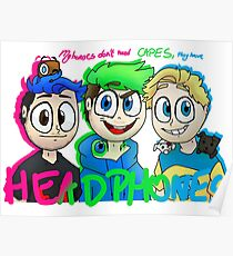 """""""My heroes don't need capes. They have headphones"""" Poster"""